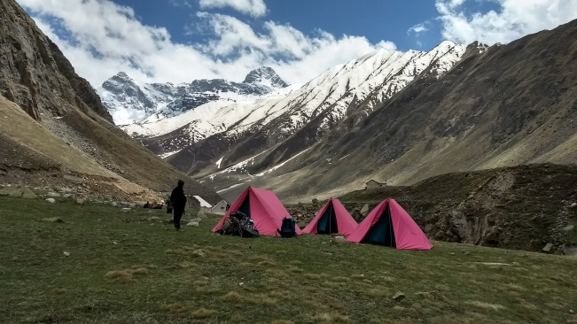 Day 1 campsite in Ranikanda at 3700m