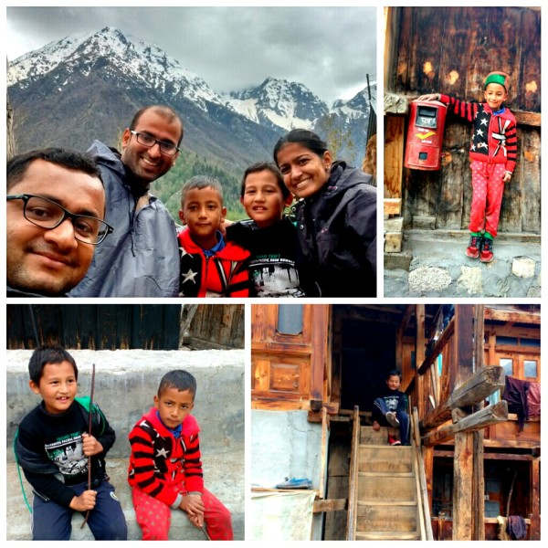 Anirudh and Rishabh, who had returned to their home for vacations show me their home and every nook and corner of Chitkul village