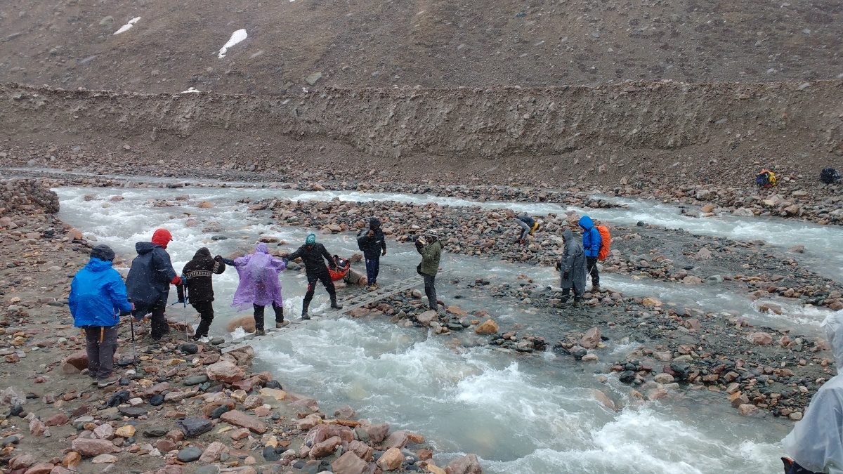 Lamkhaga Pass adventure – The river crossings from Nithal to Baspa glacier