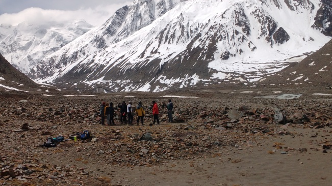 Group near the Baspa glacier